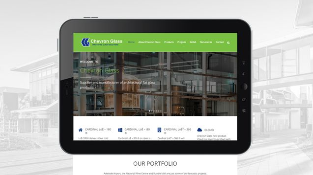 Chevron Glass - Website Design