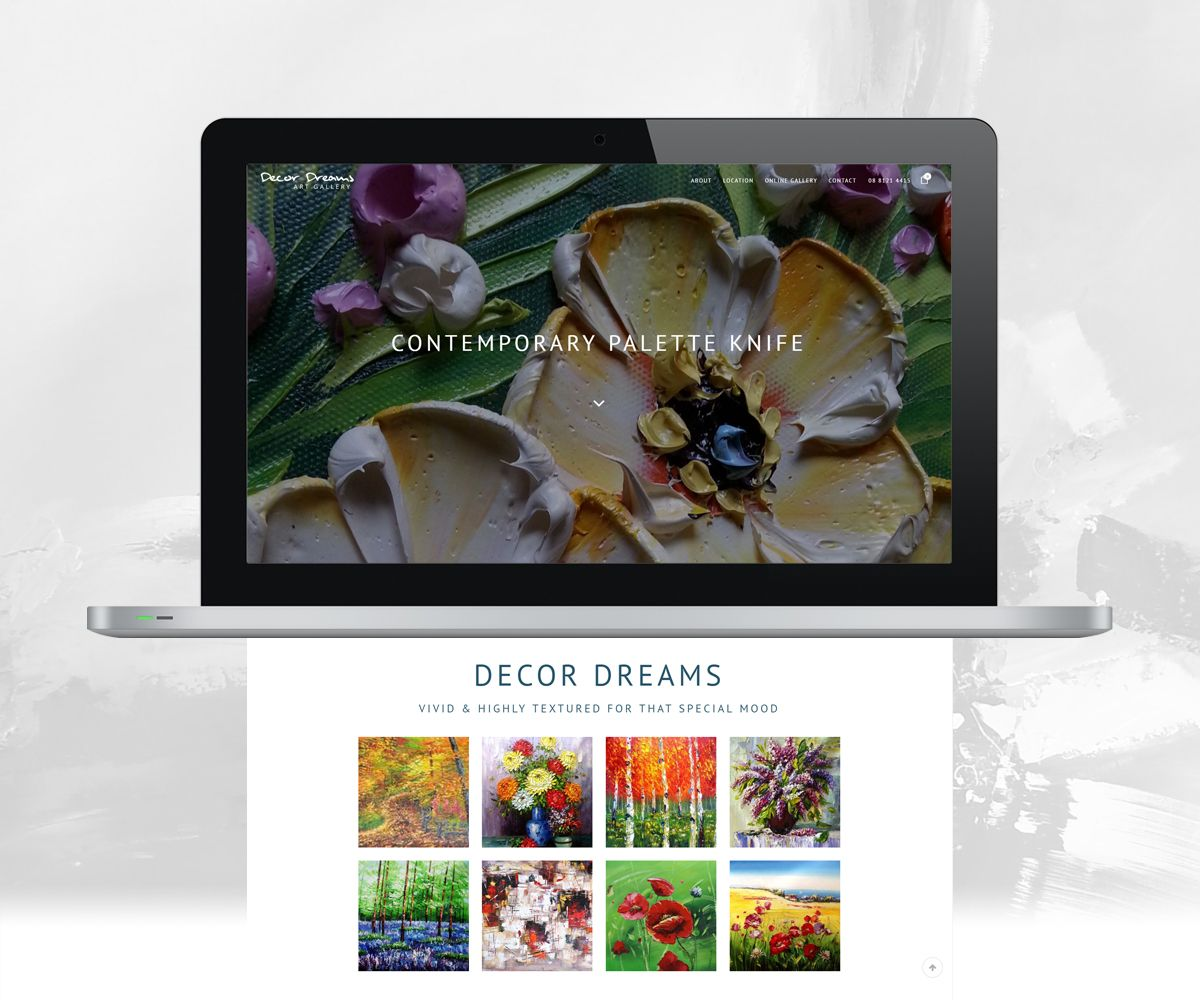 Laptop view of Decor Dreams for mobile