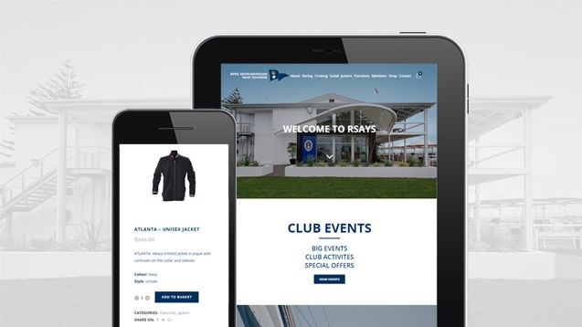 Web Design Adelaide - Royal South Australian Yatch Squadron Portfolio