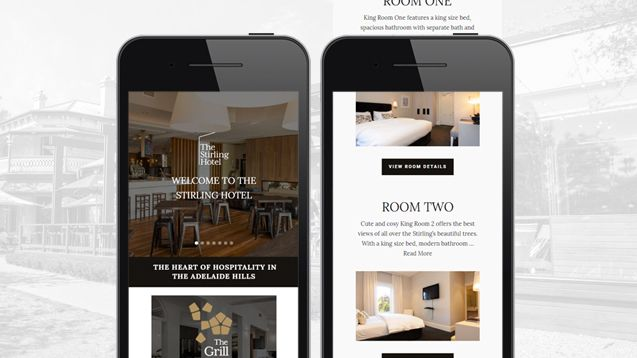 Hotel Website Design - Stirling Hotel Portfolio