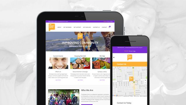 Donation Web Design - Epilepsy Centre Portfolio