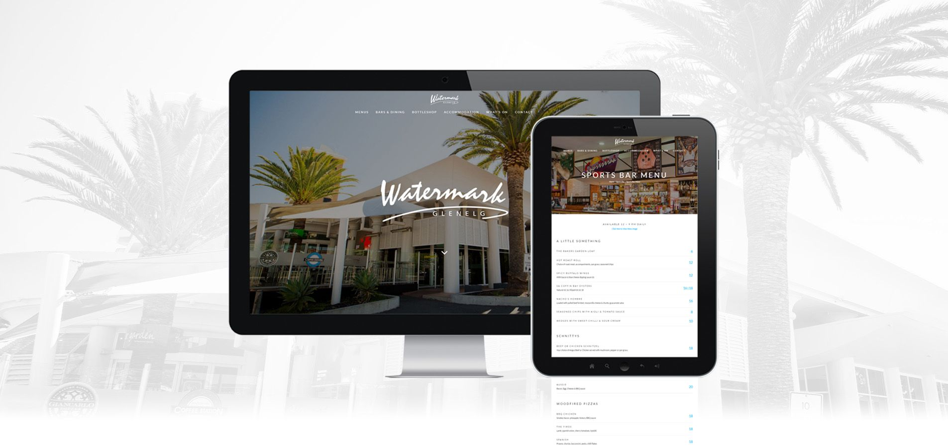 Desktop and tablet view of the Watermark Glenelg